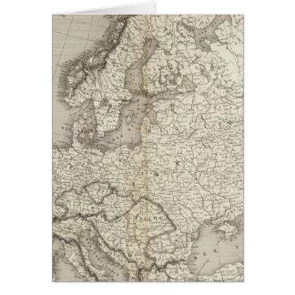 ヨーロッパのuncolored地図 カード