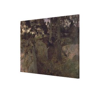 ヨーロッパオオライチョウの合うこと、1888年 キャンバスプリント