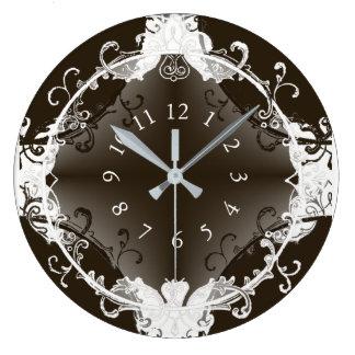 ヨーロッパクラシックヴィンテージ(c)の_BW ラージ壁時計