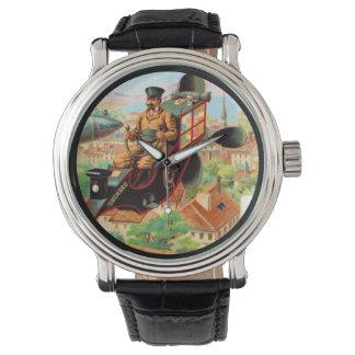 ヨーロッパチョコレート航空機の広告 腕時計