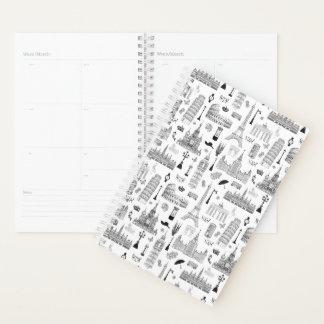 ヨーロッパパターンの休暇 プランナー手帳