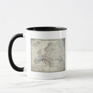 ヨーロッパ1841年の地図 マグカップ