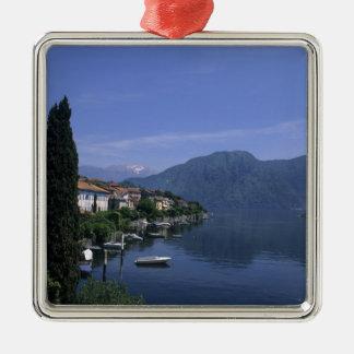 ヨーロッパ、イタリアの湖Como、Tremezzo。 北 メタルオーナメント