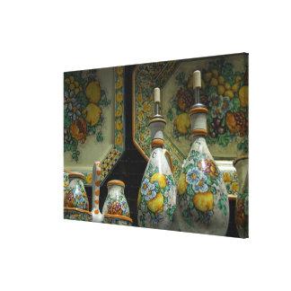 ヨーロッパ、イタリア、シシリー、Taormina。 伝統的な5 キャンバスプリント