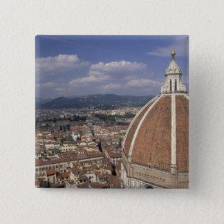 ヨーロッパ、イタリア、タスカニー、フィレンツェ。 広場のdel 5.1cm 正方形バッジ