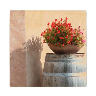 ヨーロッパ、イタリア、タスカニー。 植木鉢 ウッドコースター