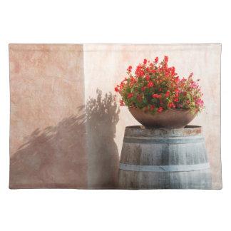 ヨーロッパ、イタリア、タスカニー。 植木鉢 ランチョンマット