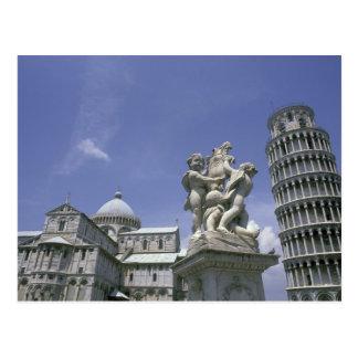 ヨーロッパ、イタリア、ピサのピサの斜塔 ポストカード