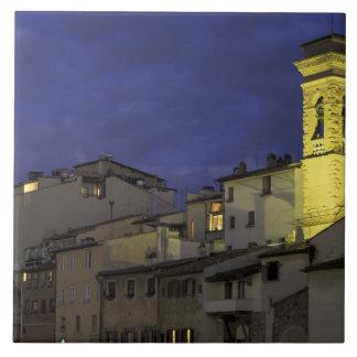 ヨーロッパ、イタリア、フィレンツェの建築詳細; タイル
