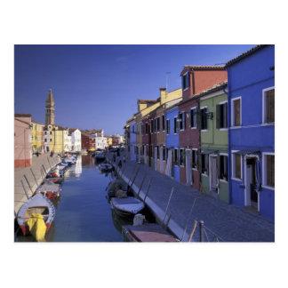 ヨーロッパ、イタリア、ベニスのMuranoの島、カラフル ポストカード