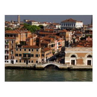 ヨーロッパ、イタリア、ベニス。 運河の意見。 ユネスコ ポストカード