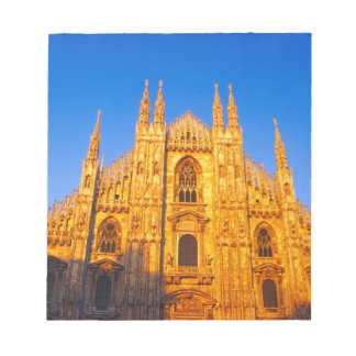 ヨーロッパ、イタリア、ミラノのミラノのカテドラル ノートパッド