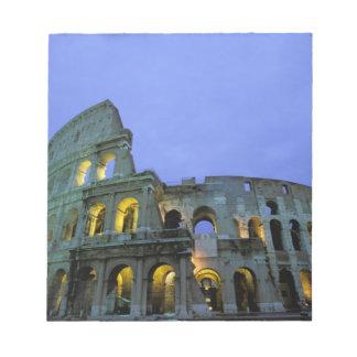 ヨーロッパ、イタリア、ローマ。 の夕べの眺め ノートパッド