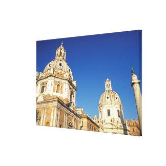ヨーロッパ、イタリア、ローマ。 サンタマリアDi Lorento キャンバスプリント