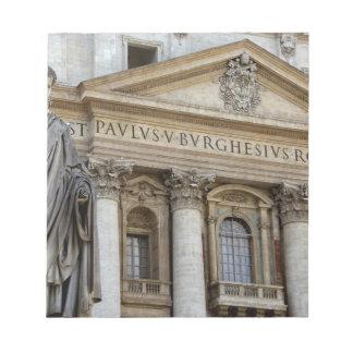ヨーロッパ、イタリア、ローマ。 セントピーターのバシリカ会堂(別名2 ノートパッド