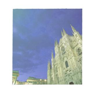 ヨーロッパ、イタリア、Lombardia、ミラノ。 大教会堂、 ノートパッド