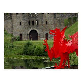 ヨーロッパ、ウェールズ、カーディフ。 カーディフの城。 ウェールズ ポストカード