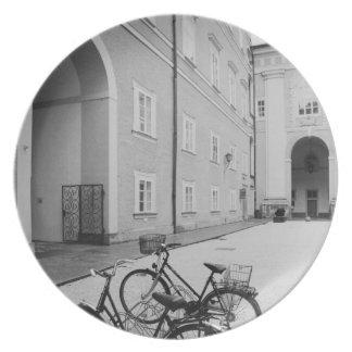 ヨーロッパ、オーストリア、ザルツブルク。 の自転車 プレート