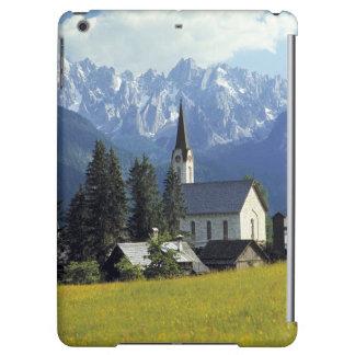 ヨーロッパ、オーストリア、Gosau。 教会の尖塔