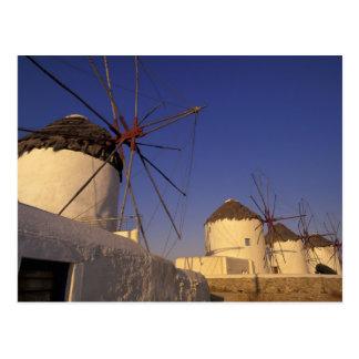 ヨーロッパ、ギリシャのキクラデス諸島の島、Mykonos、2 ポストカード