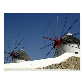 ヨーロッパ、ギリシャ、Mykonos. ポストカード
