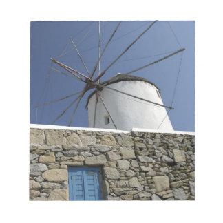 ヨーロッパ、ギリシャ、Mykonos。 2 ノートパッド