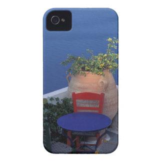 ヨーロッパ、ギリシャ、Santorini。 海の眺めの台地 Case-Mate iPhone 4 ケース