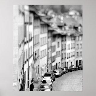 ヨーロッパ、スイス連邦共和国、ベルン。 古い都市建物 ポスター