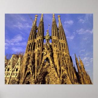 ヨーロッパ、スペイン、バルセロナ、Sagrada Familia ポスター