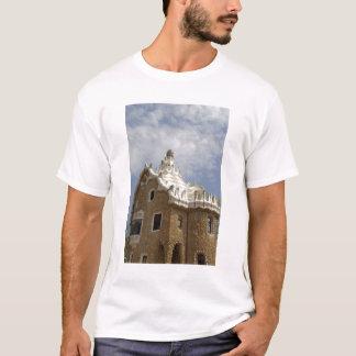 ヨーロッパ、スペイン、Catalunya、バルセロナ。 公園Guell、 Tシャツ
