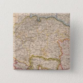 ヨーロッパ、スロバキア、ハンガリー 5.1CM 正方形バッジ