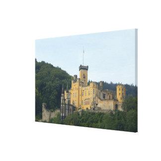 ヨーロッパ、ドイツ、コブレンツの近くで、城Schloss キャンバスプリント
