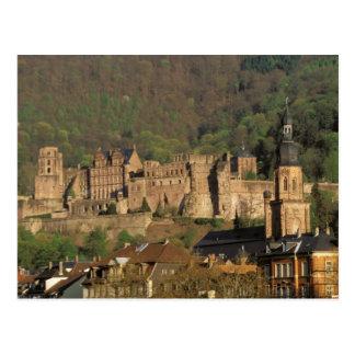 ヨーロッパ、ドイツ、ハイデルベルク。 城 ポストカード