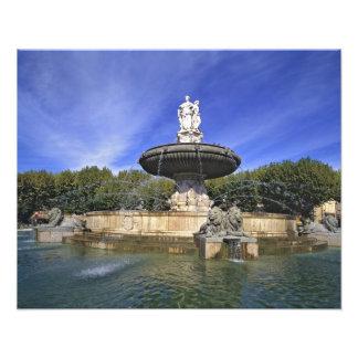 ヨーロッパ、フランス、エクサンプロバンス。 Fontaine de フォトプリント