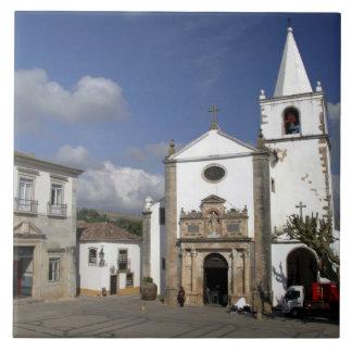 ヨーロッパ、ポルトガル、Obidos。 サンタマリア教会 タイル