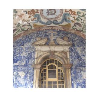 ヨーロッパ、ポルトガル、Obidos。 建築カラフル ノートパッド