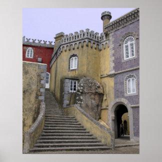 ヨーロッパ、ポルトガル、Sintra。 Penaの国民2 ポスター