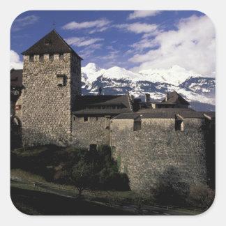 ヨーロッパ、リヒテンシュタイン、ファドゥーツ。 ファドゥーツの城、2 スクエアシール