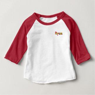 ライアンのアメリカの服装3/4枚の袖のRaglanのTシャツ ベビーTシャツ