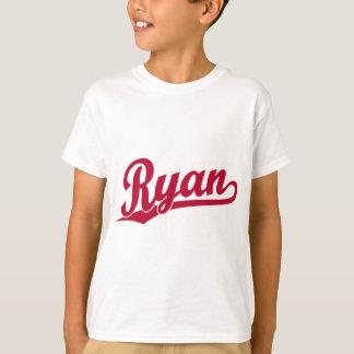 ライアンの赤い原稿のロゴ Tシャツ