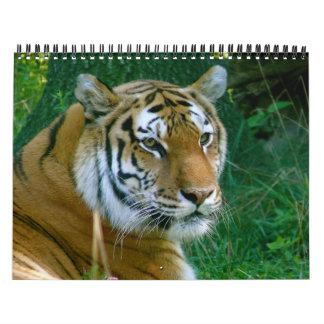ライオンおよびトラおよびキリン… -カスタマイズ カレンダー