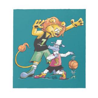 ライオンおよびヒツジのバスケットボール ノートパッド