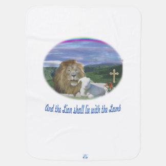 ライオンおよび子ヒツジのクリスチャンのギフト ベビー ブランケット