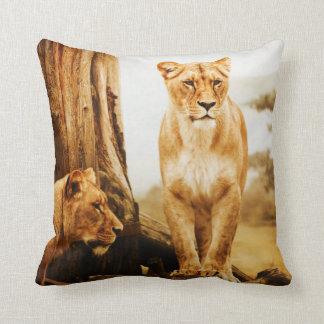 ライオンのアメリカ人のMoJoの枕 クッション