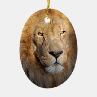 ライオンのイメージのオーナメント セラミックオーナメント