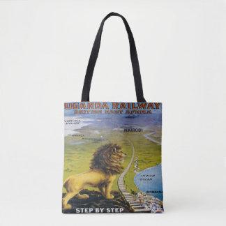 ライオンのウガンダ旅行トートバックアフリカ トートバッグ