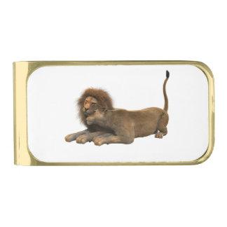 ライオンのオフィスの家は運命の運命を個人化します 金色 マネークリップ