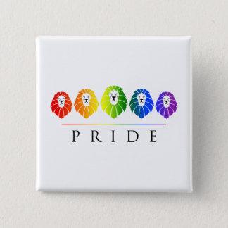ライオンのゲイプライド- LGBT 5.1CM 正方形バッジ