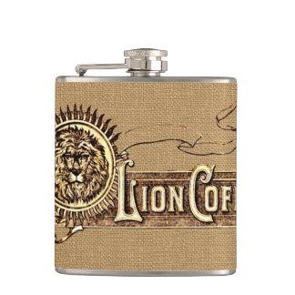 ライオンのコーヒーを広告するヴィンテージ フラスク