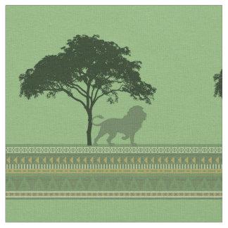 ライオンのサバンナ ファブリック